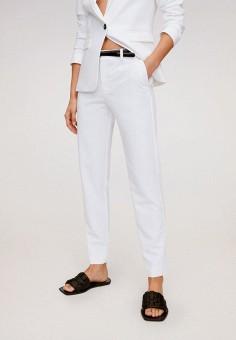 Брюки, Mango, цвет: белый. Артикул: MA002EWJAKA9. Одежда / Брюки / Классические брюки