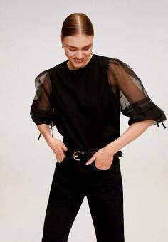 Блуза, Mango, цвет: черный. Артикул: MA002EWJAMN8. Одежда / Блузы и рубашки / Блузы