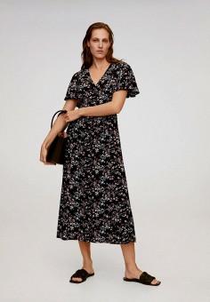 Платье, Mango, цвет: черный. Артикул: MA002EWJDWD0.