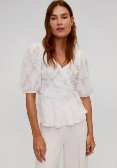 Блуза, Mango, цвет: белый. Артикул: MA002EWJDXX8. Одежда / Блузы и рубашки / Блузы