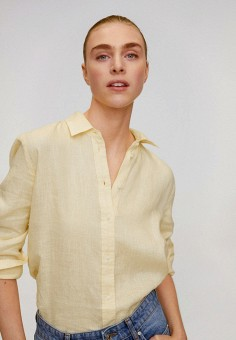 Рубашка, Mango, цвет: желтый. Артикул: MA002EWJDXZ2.