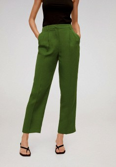 Брюки, Mango, цвет: зеленый. Артикул: MA002EWJDXZ4. Одежда / Брюки