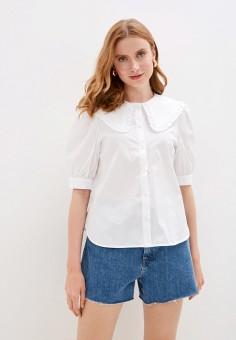 Блуза, Mango, цвет: белый. Артикул: MA002EWJGBO6. Одежда / Блузы и рубашки