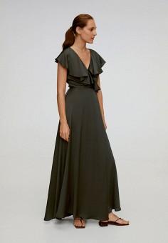 Платье, Mango, цвет: серый. Артикул: MA002EWJGER8. Одежда / Платья и сарафаны / Вечерние платья