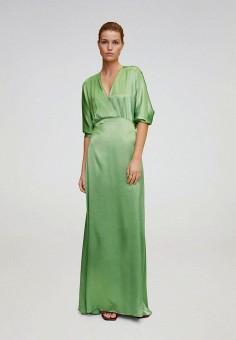Платье, Mango, цвет: зеленый. Артикул: MA002EWJGES8. Одежда / Платья и сарафаны / Вечерние платья