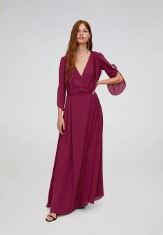 Платье, Mango, цвет: фиолетовый. Артикул: MA002EWJGEW9. Одежда / Платья и сарафаны / Вечерние платья