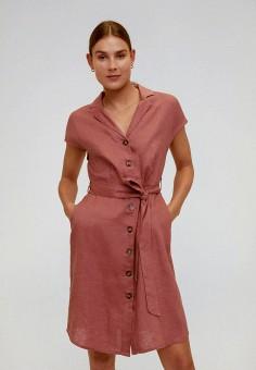 Платье, Mango, цвет: розовый. Артикул: MA002EWJGFA3. Одежда / Платья и сарафаны