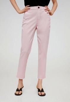 Брюки, Mango, цвет: розовый. Артикул: MA002EWJGFA6.