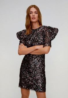 Платье, Mango, цвет: мультиколор. Артикул: MA002EWJGFH4. Одежда / Платья и сарафаны / Вечерние платья