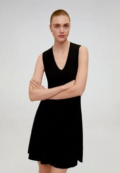 Платье, Mango, цвет: черный. Артикул: MA002EWJGFJ7. Одежда / Платья и сарафаны