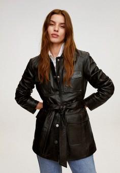 Куртка, Mango, цвет: черный. Артикул: MA002EWJKTE5. Одежда / Верхняя одежда / Кожаные куртки