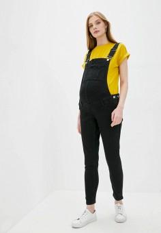 Комбинезон джинсовый, Mango, цвет: черный. Артикул: MA002EWJNDC6. Одежда / Одежда для беременных