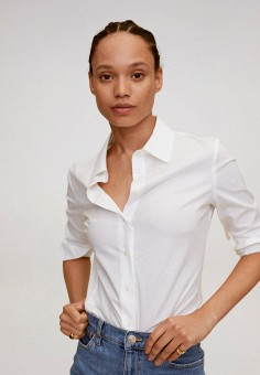 Рубашка, Mango, цвет: белый. Артикул: MA002EWJUNA3. Одежда / Блузы и рубашки