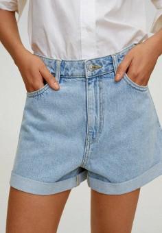 Шорты джинсовые, Mango, цвет: голубой. Артикул: MA002EWJUSV8. Одежда / Шорты