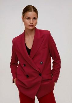 Пиджак, Mango, цвет: красный. Артикул: MA002EWJYRK4. Одежда / Пиджаки и костюмы