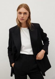 Жакет, Mango, цвет: черный. Артикул: MA002EWKCVH0. Одежда / Пиджаки и костюмы