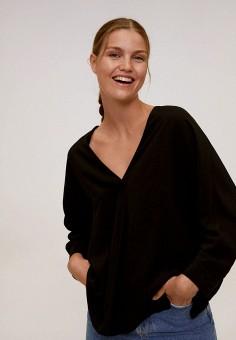 Блуза, Mango, цвет: черный. Артикул: MA002EWKCVJ1. Одежда / Блузы и рубашки
