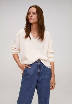 Пуловер, Mango, цвет: бежевый. Артикул: MA002EWKEVP5. Одежда / Джемперы, свитеры и кардиганы / Джемперы и пуловеры