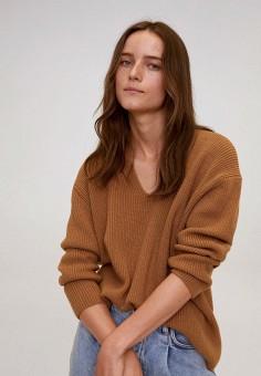 Пуловер, Mango, цвет: коричневый. Артикул: MA002EWKEVQ3. Одежда / Джемперы, свитеры и кардиганы / Джемперы и пуловеры