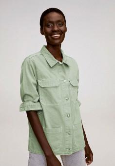 Жакет, Mango, цвет: зеленый. Артикул: MA002EWKEVR0. Одежда / Пиджаки и костюмы