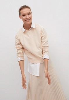 Джемпер, Mango, цвет: бежевый. Артикул: MA002EWKIDP4. Одежда / Джемперы, свитеры и кардиганы / Джемперы и пуловеры / Джемперы