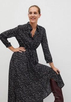 Платье, Mango, цвет: черный. Артикул: MA002EWKIDU8. Одежда / Платья и сарафаны