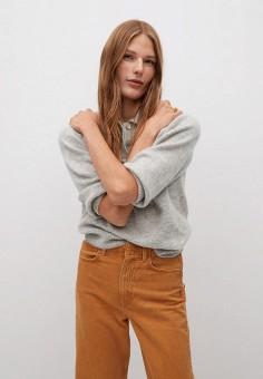 Джемпер, Mango, цвет: серый. Артикул: MA002EWKIED6. Одежда / Джемперы, свитеры и кардиганы / Джемперы и пуловеры / Джемперы
