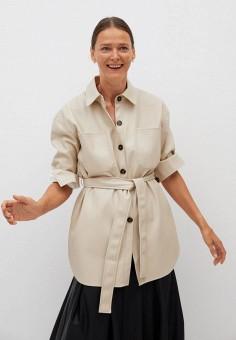 Рубашка, Mango, цвет: бежевый. Артикул: MA002EWKIEM7. Одежда / Блузы и рубашки / Рубашки