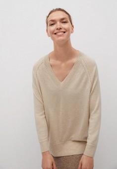 Пуловер, Mango, цвет: бежевый. Артикул: MA002EWKIEM8. Одежда / Джемперы, свитеры и кардиганы / Джемперы и пуловеры