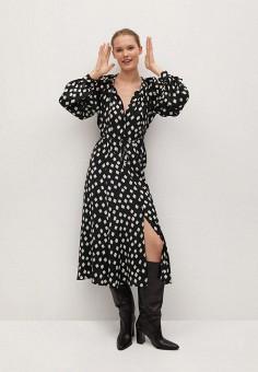 Платье, Mango, цвет: черный. Артикул: MA002EWKKEB1. Одежда / Платья и сарафаны