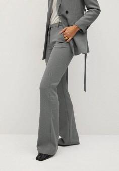 Брюки, Mango, цвет: серый. Артикул: MA002EWKMAK5. Одежда / Брюки / Классические брюки