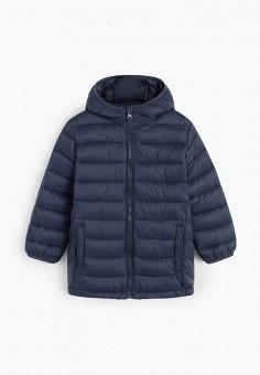 Куртка утепленная, Mango Kids, цвет: синий. Артикул: MA018EBIIOZ8. Мальчикам / Одежда / Верхняя одежда / Куртки и пуховики