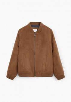Куртка, Mango Kids, цвет: коричневый. Артикул: MA018EBJAME7. Мальчикам / Одежда / Верхняя одежда