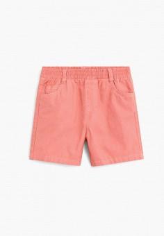 Шорты, Mango Kids, цвет: коралловый. Артикул: MA018EBJIYU7.