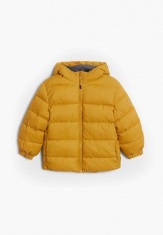 Куртка утепленная, Mango Kids, цвет: желтый. Артикул: MA018EBJUND1. Мальчикам / Одежда / Верхняя одежда