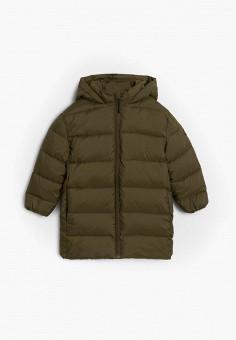Куртка утепленная, Mango Kids, цвет: хаки. Артикул: MA018EBJUNF2. Мальчикам / Одежда / Верхняя одежда / Куртки и пуховики
