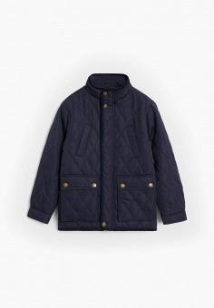 Куртка утепленная, Mango Kids, цвет: синий. Артикул: MA018EBJUNI0. Мальчикам / Одежда / Верхняя одежда