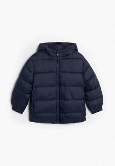 Куртка утепленная, Mango Kids, цвет: синий. Артикул: MA018EBJUNI1. Мальчикам / Одежда / Верхняя одежда