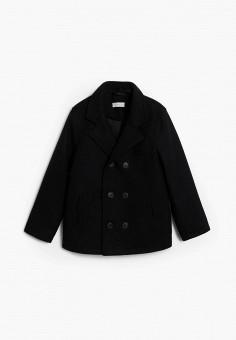 Пальто, Mango Kids, цвет: черный. Артикул: MA018EBKEXP5. Мальчикам / Одежда / Верхняя одежда