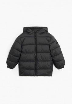 Куртка утепленная, Mango Kids, цвет: черный. Артикул: MA018EBKIDV2. Мальчикам / Одежда / Верхняя одежда