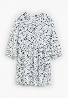 Платье, Mango Kids, цвет: белый. Артикул: MA018EGIIKH8. Девочкам / Одежда / Платья и сарафаны