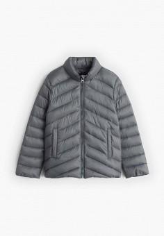 Куртка утепленная, Mango Kids, цвет: серый. Артикул: MA018EGIIPK9. Девочкам / Одежда / Верхняя одежда / Куртки и пуховики