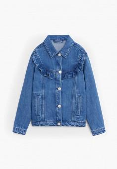 Куртка джинсовая, Mango Kids, цвет: синий. Артикул: MA018EGIRNO7.