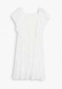 Платье, Mango Kids, цвет: белый. Артикул: MA018EGJAKB0. Девочкам / Одежда / Платья и сарафаны