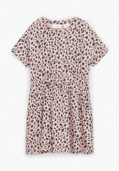 Платье, Mango Kids, цвет: розовый. Артикул: MA018EGJAMJ9. Девочкам / Одежда / Платья и сарафаны