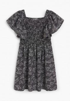 Платье, Mango Kids, цвет: черный. Артикул: MA018EGJAMM5. Девочкам / Одежда / Платья и сарафаны