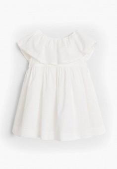 Платье, Mango Kids, цвет: белый. Артикул: MA018EGJGFW7. Девочкам / Одежда / Платья и сарафаны