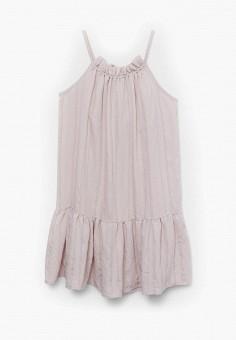 Платье, Mango Kids, цвет: розовый. Артикул: MA018EGJGRU0. Девочкам / Одежда / Платья и сарафаны