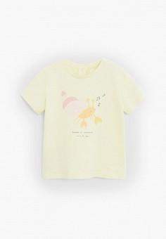 Футболка, Mango Kids, цвет: желтый. Артикул: MA018EGJIYF2.