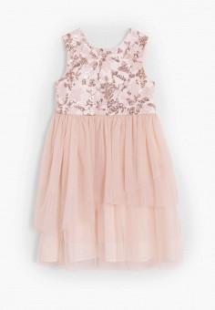 Платье, Mango Kids, цвет: розовый. Артикул: MA018EGJIYT5. Девочкам / Одежда / Платья и сарафаны